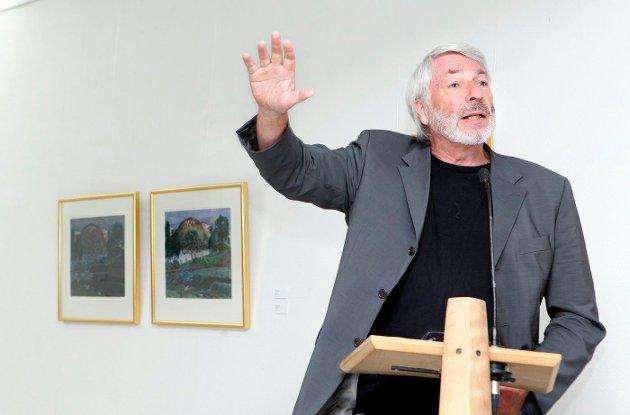 FULLT HUS: Utstilling med tresnitt av Munch og Astrup åpner i Bærum Kusntforening. Holger Kofoed. FOTO: KNUT BJERKE