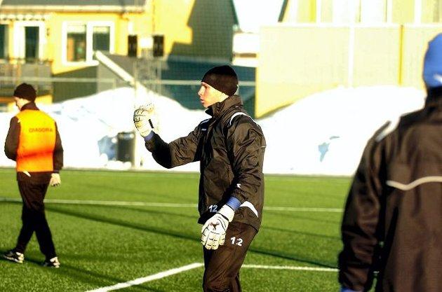 Colin Burns er klar for Sandefjord Fotball ut sesongen. Han blir andrekeeper i SF-troppen. FOTO: ANDERS MEHLUM HASLE