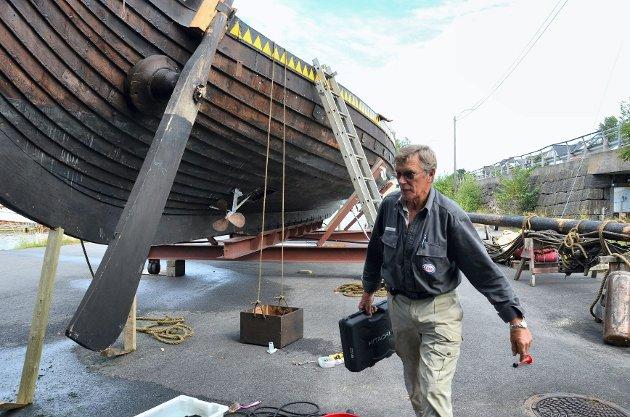 Gaia har ingen synlige utvendige skader etter forliset, til tross for at skipet gikk sidelengs til bunns med fire-fem tonn ballaststein.