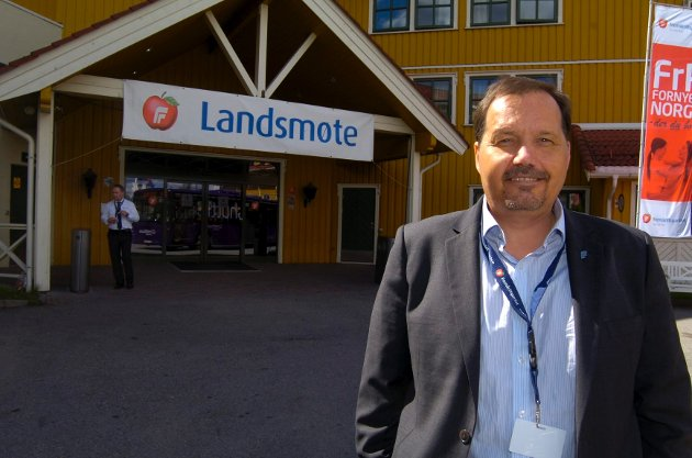 Per Arne Olsen (Frp) mener folk selv må få velge om de vil dø. Her er Olsen avbildet i forbindelse med landsmøte i fjor.