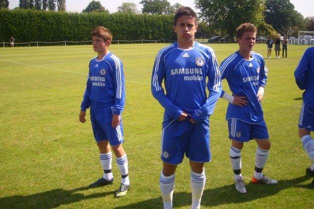 <b>SCORET TO. </b>Mergim Hereqi scoret to mål i treningskamp for Chelsea mot Brighton. FOTO: PRIVAT
