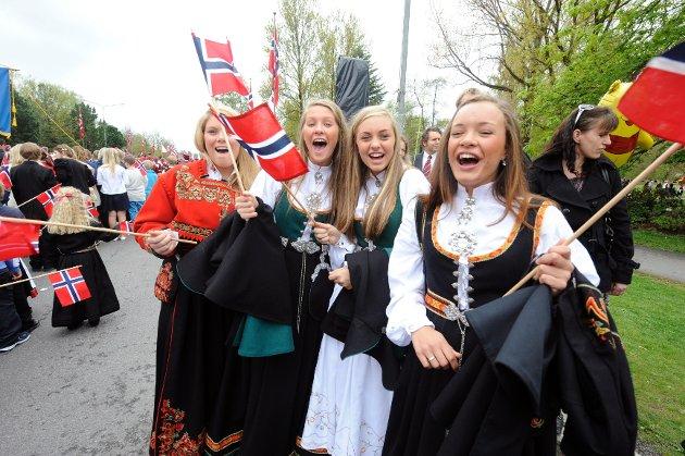 Hurragjengen Madeleine Tvedt (f.v.), Silje Solbakken, Hanna Røed Sørensen og Sarah Andresen.