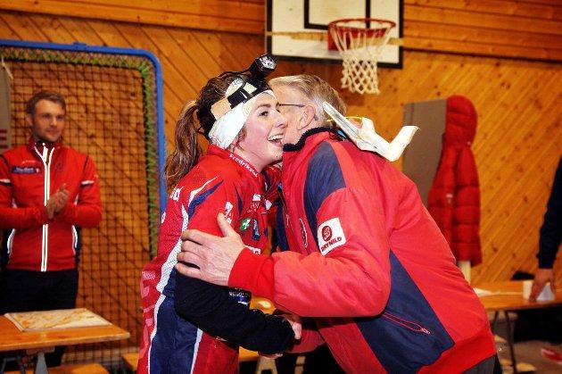 Sigrid Alexandersen kunne feire etter at hun tok NM-gull i nattorientering fredag kveld.