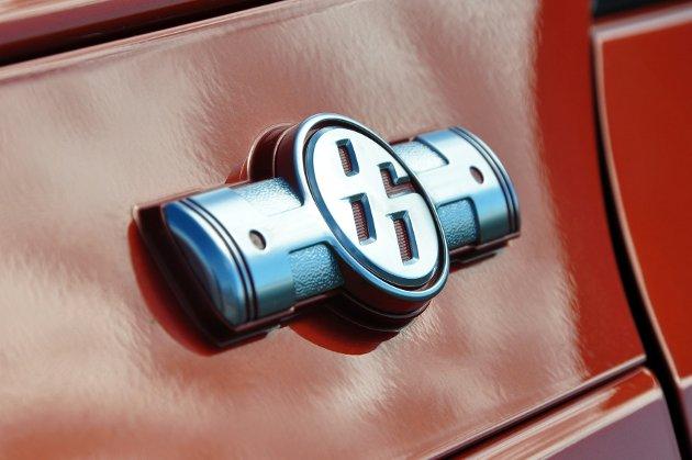 GT86 har fått sin egen logo, med liggende stempler ut fra 86-tallet. Boksermotorer har liggende stempler som slår i hver sin retning.