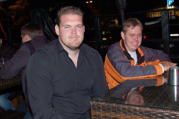 På Brygga Bar: Jari Matilainen og Lasse Ekmann.
