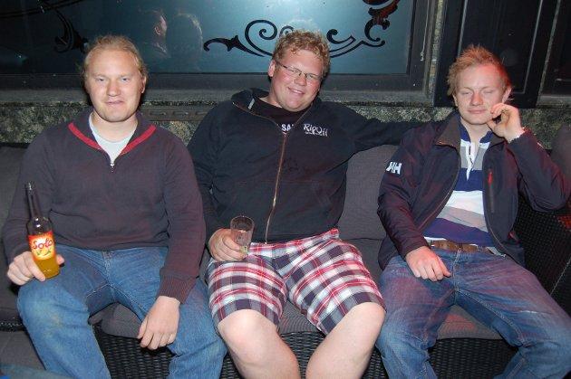 På James Clark: Eivind Formue Solbrekke, Martin Tangen og Martin Syvertsen.