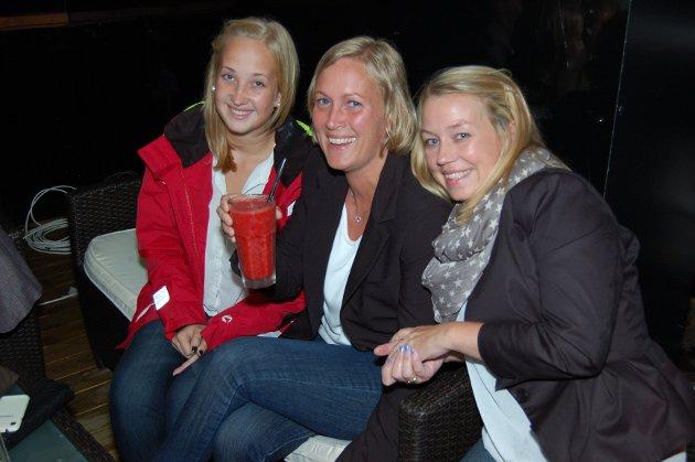 På Pir4: Christine Evensen, Anita B. Sagatun og Linn Hansen.