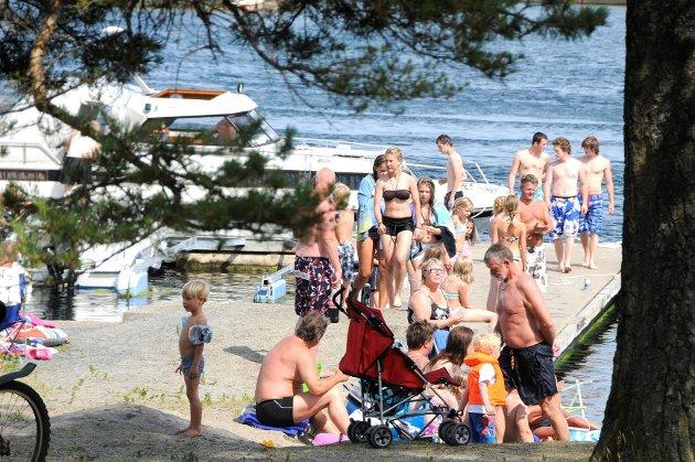 Granholmen Camping har fullt belegg i helga. Foto: Atle Møller