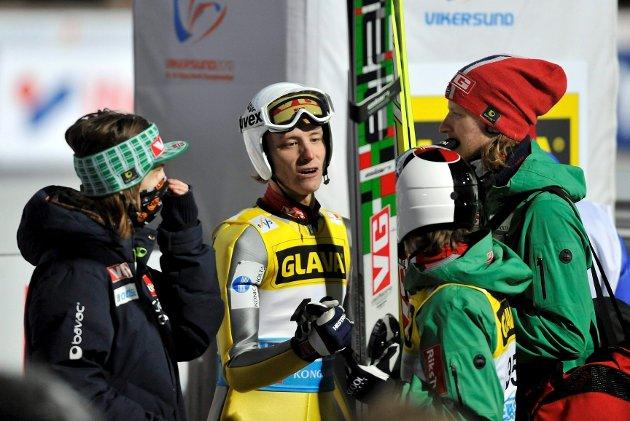 Rune Velta imponerte med 221 meter og 2. plass i torsdagens kvalifiseringsrenn i Vikersund.