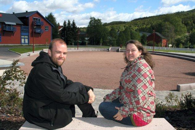 Tom Martin Kjelstad Hartviksen og Line Galaasen i Trysilfestivalen gleder seg over godt forhåndssalg.