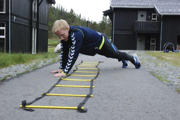 STIGEKRABBING: Kristian Nordby får kjørt seg, men gir likevel jernet. Alle foto: Snorre Grading