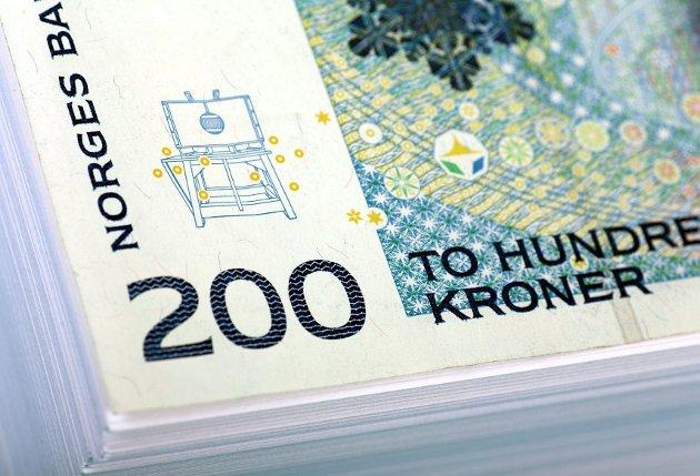 En falsk 200-kroners seddel ble oppdaget på et spisested på Tofte.