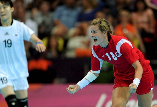 Linn-Kristin Riegelhuth Koren scoret fem mål i forrige kamp. Foto: Astrid M. Nordhaug. Digitalsport.no
