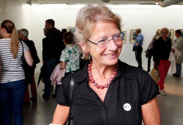 FULLT HUS: Utstilling med tresnitt av Munch og Astrup åpner i Bærum Kusntforening. Karin Hellandsjø FOTO: KNUT BJERKE