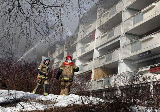 Om morgenen onsdag 30. mars brøt det ut brann på Rykkinn.
