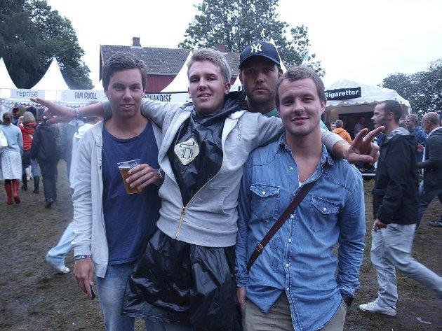 Jo Krokengen (22), Mads Krohn (22), Tor Bårnes (21) og Lars Magne Borg (21) fra Tønsberg.