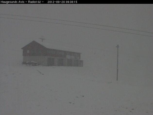 Vinterlig i Håradalen torsdag 20. september.