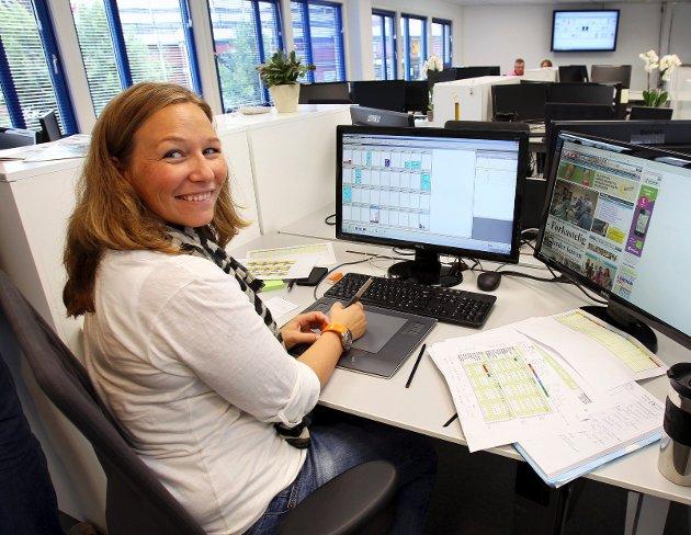 Tina Enge styrer produksjonen.