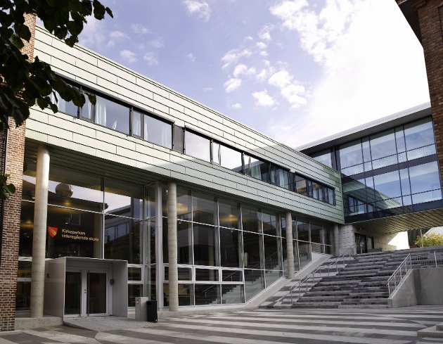 Lysaker-arkitekter fra Link Signatur fikk pris for dette skolebygget i Moss.