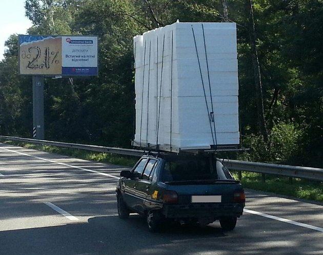 - Ikke akkurat lokalt, men jeg kjørte bak han her i Kiev, Ukraina, sier innsenderen av dette bildet.