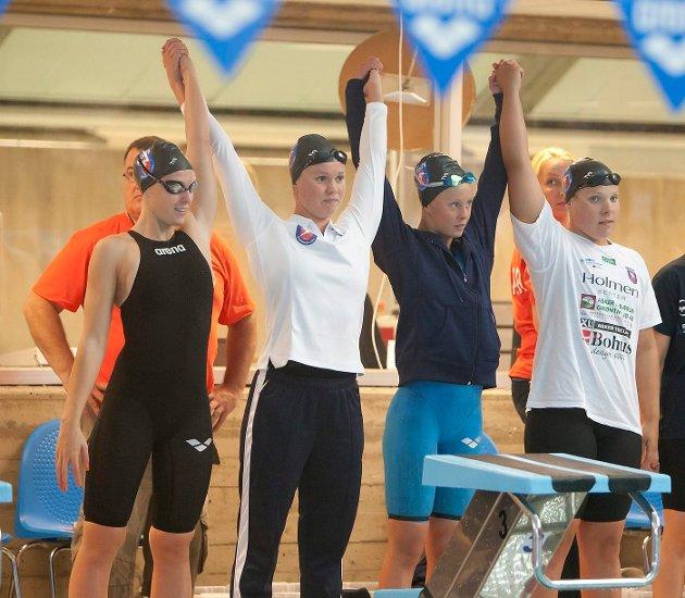 GODE PRESTASJONER: Asker Svømmeklubb og Bærumsvømmerne hevdet seg i toppen under NM i Tøyenbadet. FOTO: ANETTE ANDRESEN