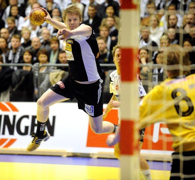 Kristinn Bjørgulfsson ¬ Elverum -Runar 24-27 i Cupfinalen 2008 ¬ Runar håndball Spektrum herrer