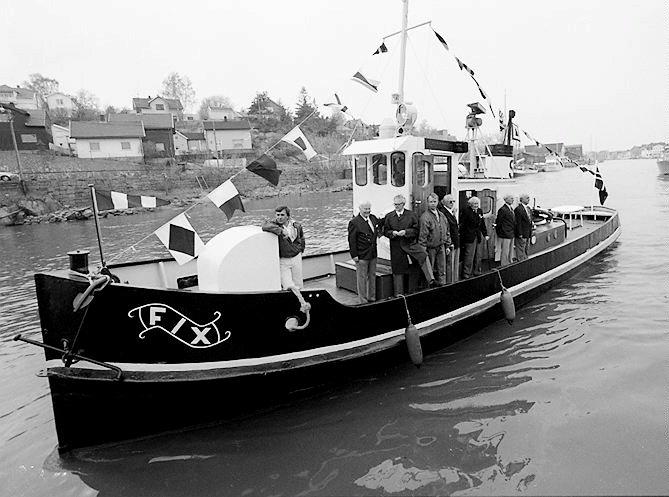 Båter bygd ved Fredrikstad Mekaniske Verksted (FMV): Byggenummer 17: Slepebåten Fix, 1891.          Fotograf : Thomas Andreassen     TattDato  : 05/05/1995
