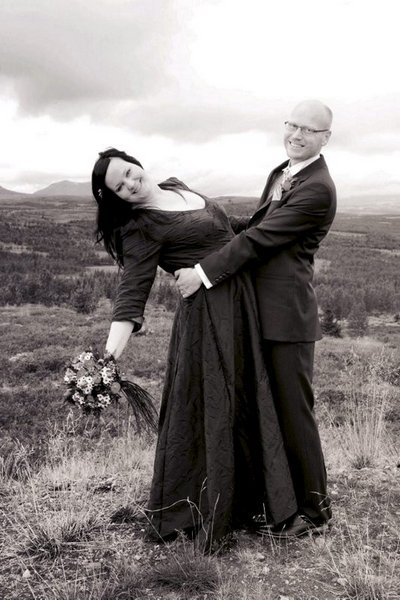 Vi giftet oss 6. september. Heidi og Kristian Myhre.