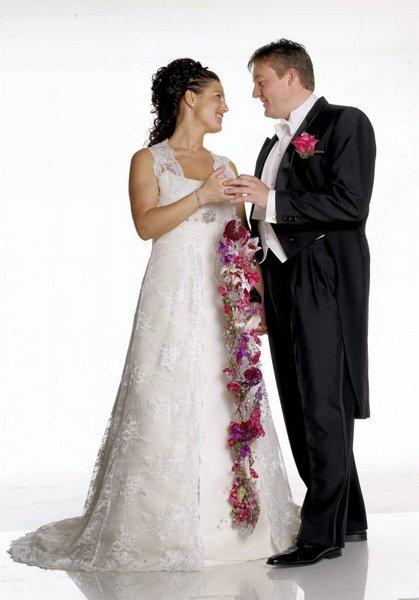 Vi giftet oss i Tune kirke 27. september. Anne Borgaas og Geir Christian Karlsen.