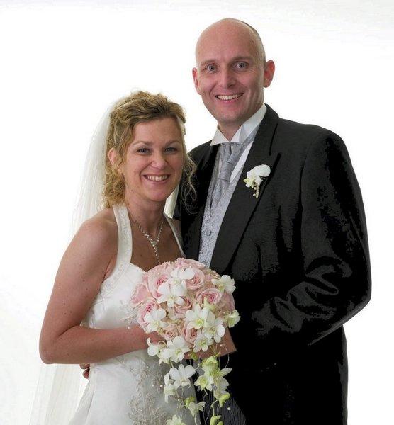 Vi giftet oss i Hinna kirke, Stavanger, 20. september. Karianne og Anders Veberg.