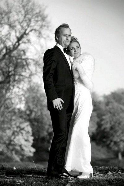 Vi giftet oss i strålende solskinn i Østre Fredrikstad kirke 11. oktober. Anne Line og Leif Anders Stene-Johansen.