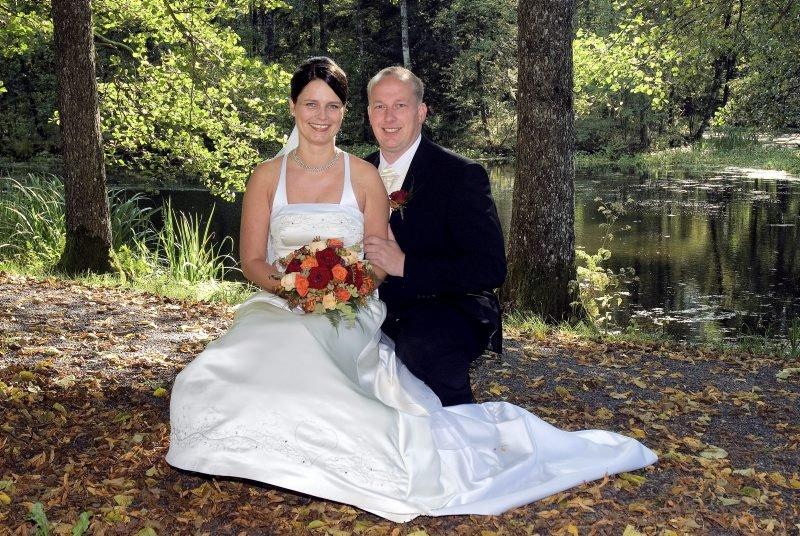 Vi giftet oss 13. september i Tomb kirke. Geir Kristiansen og Turid Molvig Kristiansen, Råde.
