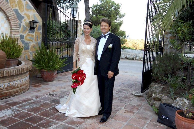 Debora og Ketil Langgård giftet seg i Marbella 3. oktober.