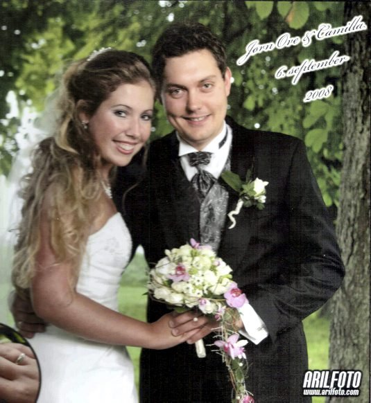 Camilla Mari Kynningsrud og Jørn Ove Saxegaard giftet seg lørdag 6. september i Rolvsøy kirke.