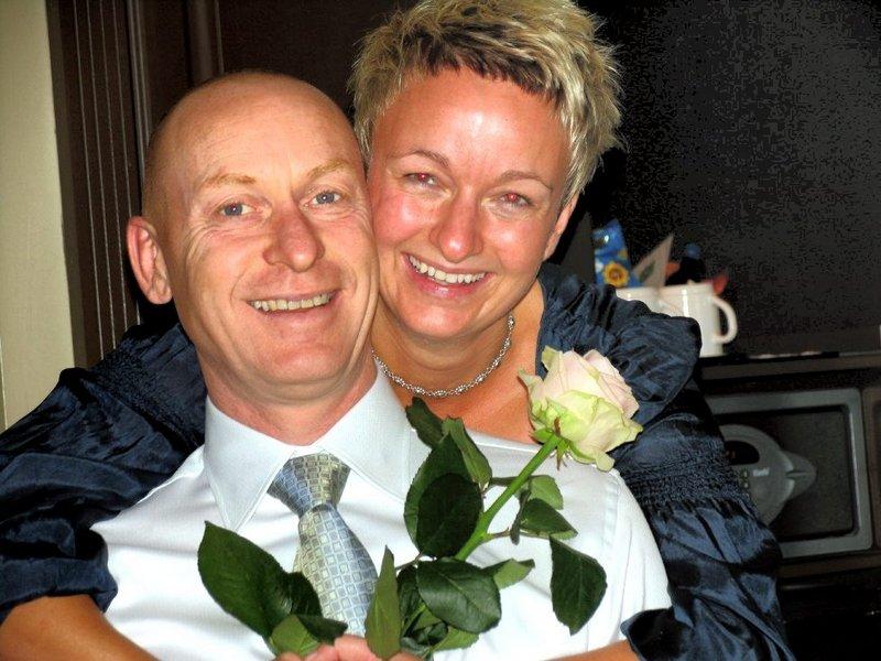 Vi ble viet i Oslo tinghus 12. september. Mariann Nikolaisen og Odd Øvregård.