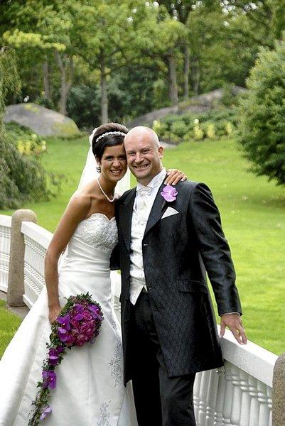 Kristin Edvardsen Yri og Anders Yri giftet seg 6. september.          FOTO: TERJE JENSEN