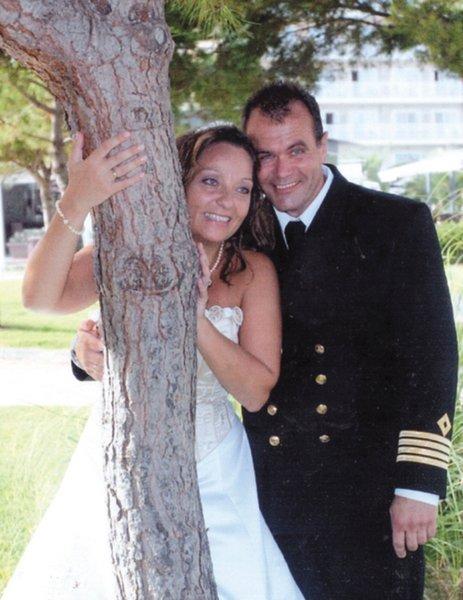 Vi giftet oss i sjømannskirken på Mallorca 10. september. May-Liss, født Kristiansen og Trond R. Nilsen.