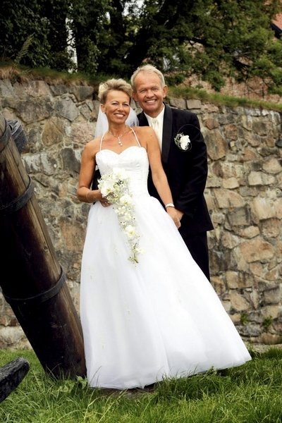 Vi giftet oss i Gamlebyen 6. september. Sonja og Knut Hovland.           FOTO: TOM EGIL JENSEN