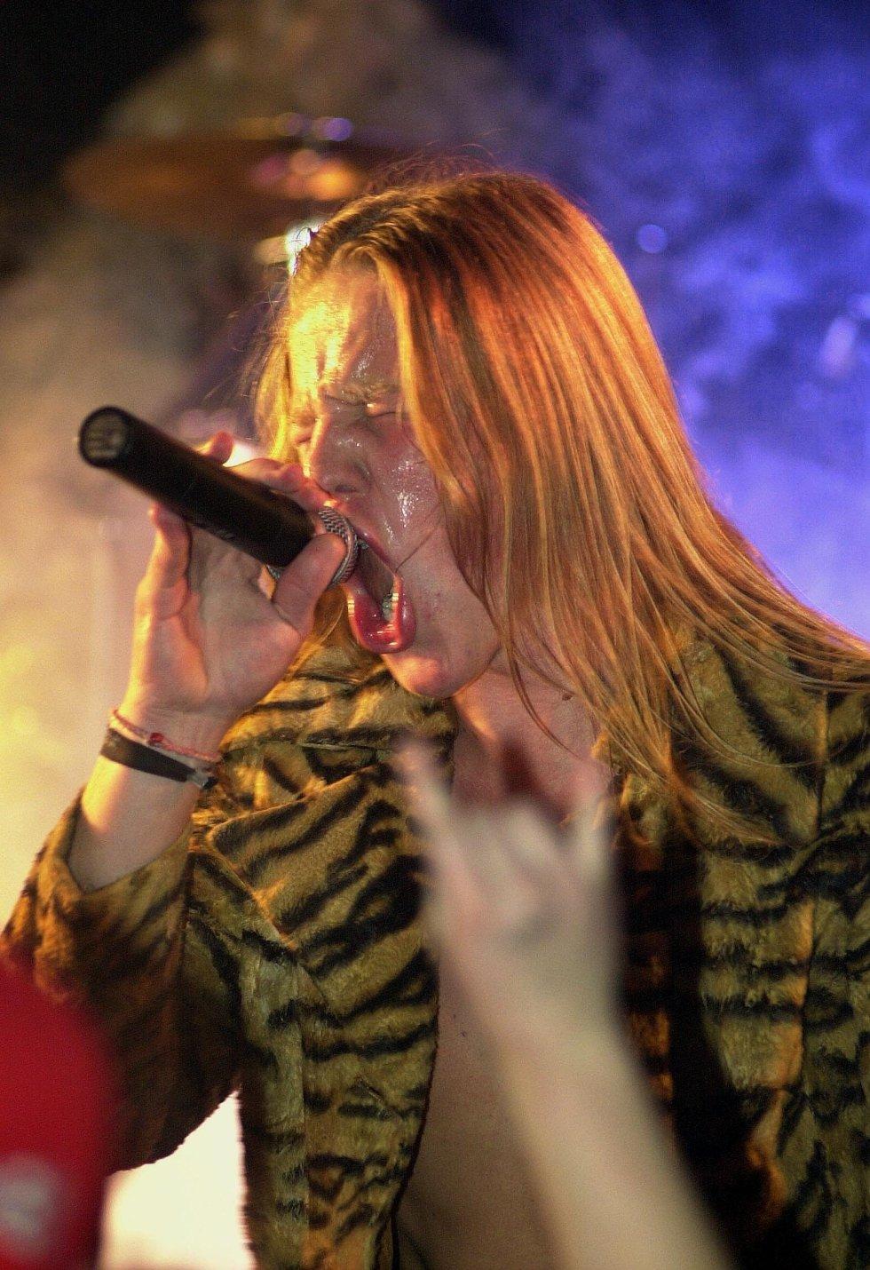 LAGER BRÅK: Lipstick Liontigers og vokalist Screaming Eagle (Mads Lunde) er notoriske bråkmakere, og sier de skal spille på nakenhet så vel som på musikkinstrumenter på lørdag.