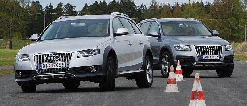 Til tross for økt bakkeklaring kan både Allroad og Q5 piskes hardt. (Foto: )