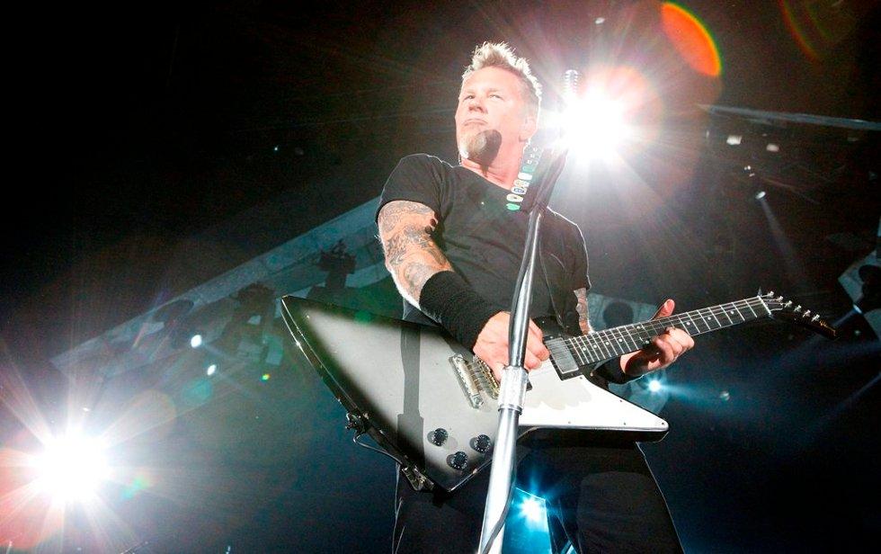 James Hetfield i Metallica i Telenor Arena.