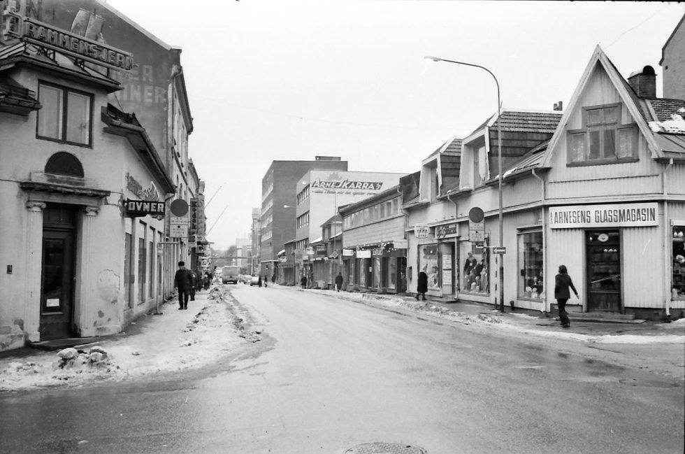 Stille og rolig en vårdag i Engene slik det så ut for 35 år siden.