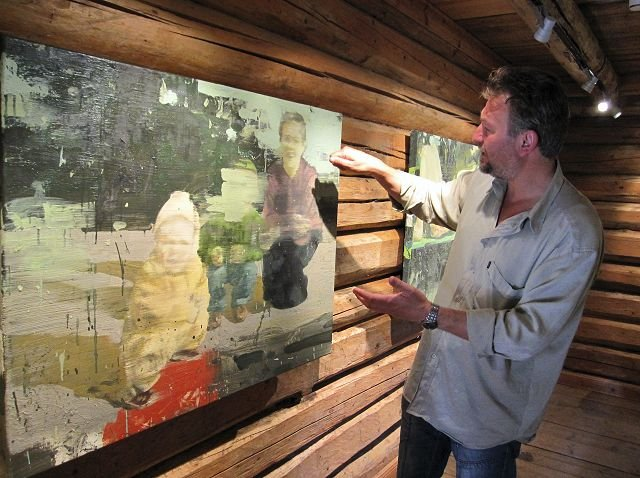 Tor Arne Moen er blant kunstnere som stiller ut på Soli Brug. foto eva nyhaug