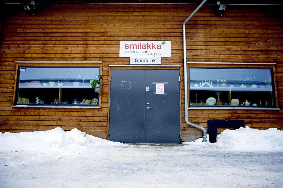 AVVIKLET: Gjenbruksbutikken på Taranrød avfallsstasjon. Foto: Peder Gjersøe