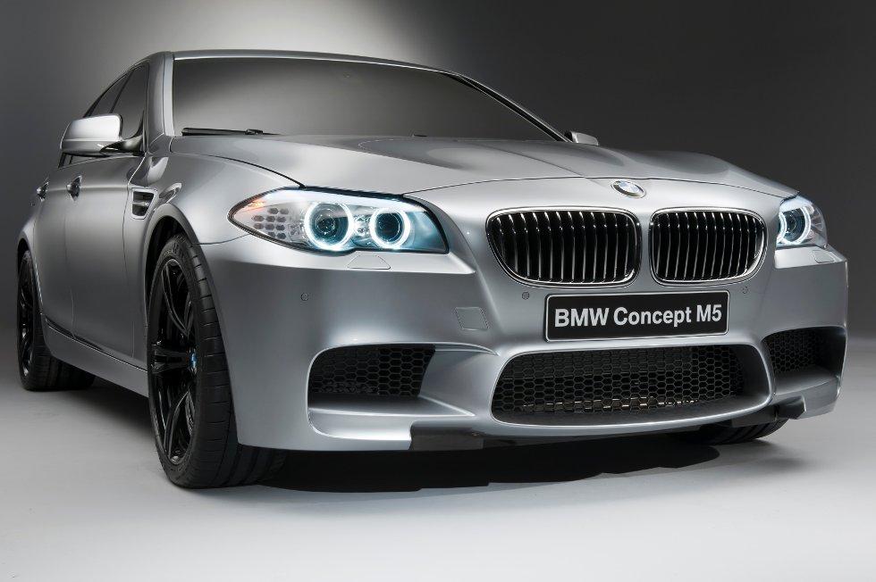 BMWs M5-konsept blir vist frem for første gang under bilutstillingen i Shanghai i slutten av april.