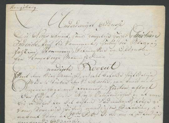 Dette er dokumentasjonen til P. Stenstrup på at han hadde avlagt ed, da han reiste til den grunnlovgivende forsamling på Eidsvoll i 1814 for å representere Kongsberg.