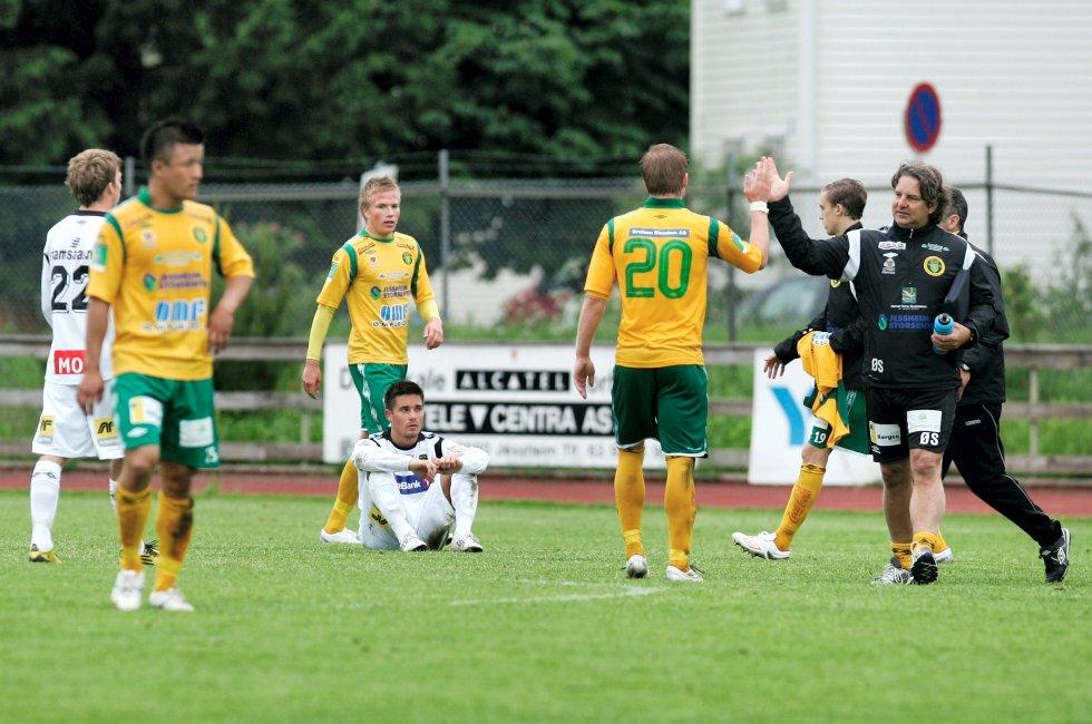 Ullensaker/Kisa mot Moss FK. Tap, 3-1.