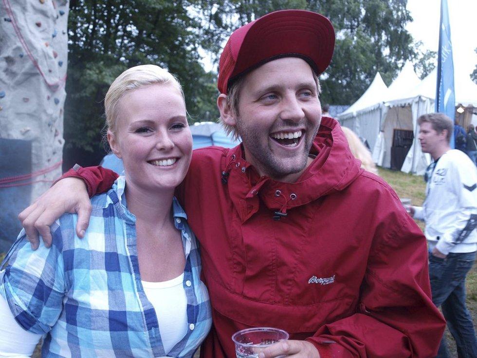 Hege Korneliussen (25) og Ole Borg (22) fra Tønsberg. (Foto: )