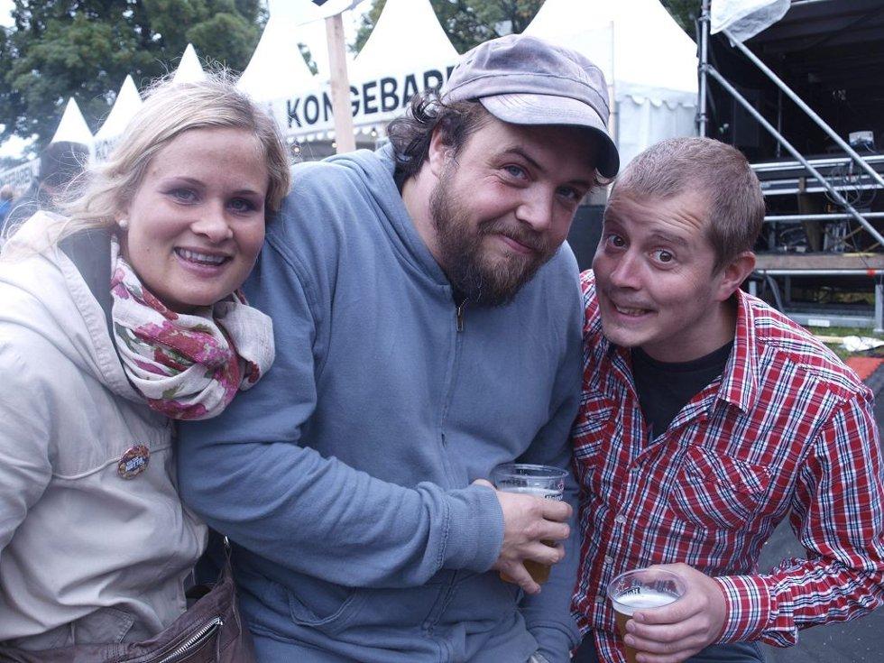 Marte Kvernland (29) fra Kristiansand, Simen Bergsagel (29) fra Sandefjord og Christian Noer (29) fra Lahelle.