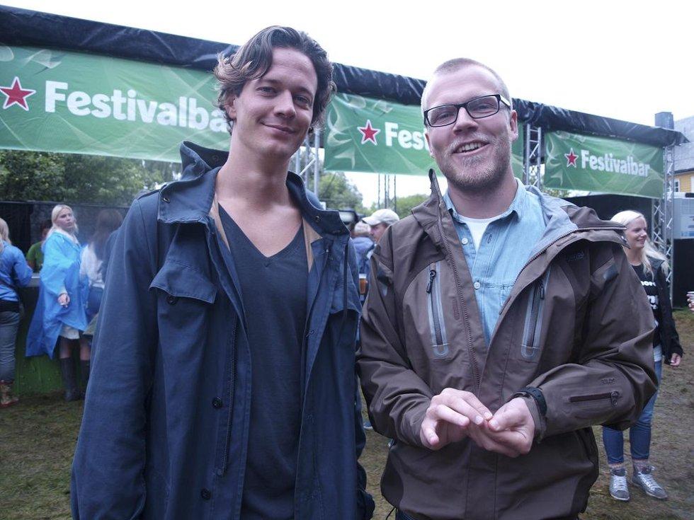 Christer Arthurson (26) og Henrik Georg Bjørlo (26) fra Tønsberg. (Foto: )